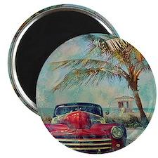Vintage Beach Magnet