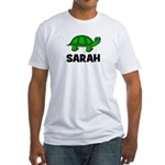 Turtle Design with Sarah Fitted T-Shirt