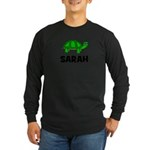 Turtle Design with Sarah Long Sleeve Dark T-Shirt