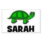 Turtle Design with Sarah Rectangle Sticker