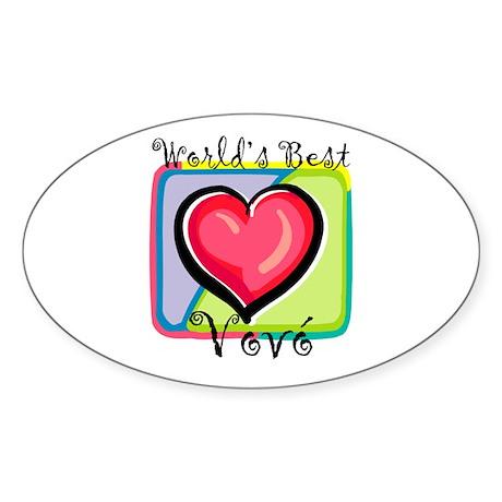 WB Grandma [Brazilian Portuguese] Oval Sticker