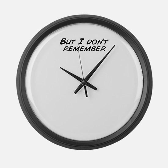 Unique Remember Large Wall Clock