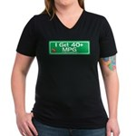 40 MPG Gear Women's V-Neck Dark T-Shirt
