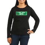 40 MPG Gear Women's Long Sleeve Dark T-Shirt