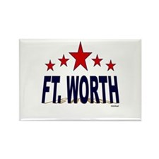 Ft. Worth Rectangle Magnet