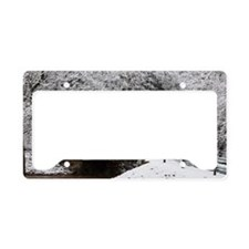 White out red prevails License Plate Holder