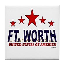 Ft. Worth U.S.A. Tile Coaster