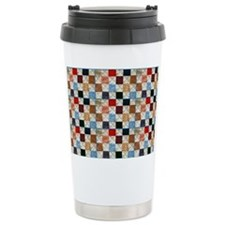 Colorful quilt pattern Travel Mug