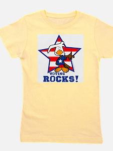 Voting Rocks Girl's Tee