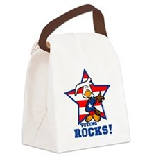 Voting Rocks Canvas Lunch Bag