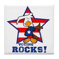 Voting Rocks Tile Coaster