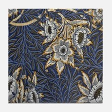 Floral Pattern by William Morris Tile Coaster