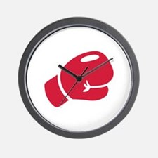 Red boxing glove Wall Clock