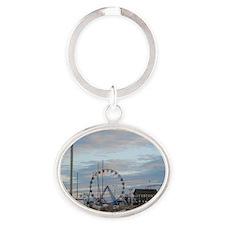 Seaside Heights Funtown Pier Jersey  Oval Keychain
