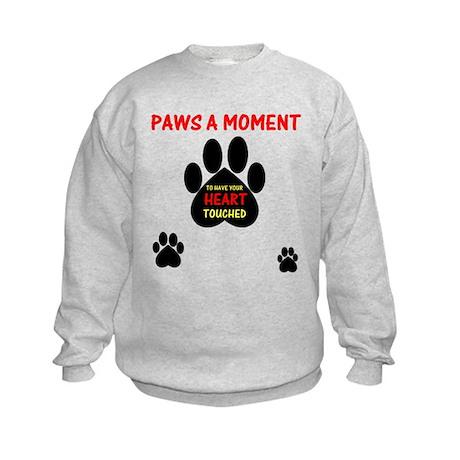 Paws a Moment, Kids Sweatshirt