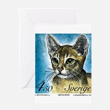 1994 Sweden Abyssinian Cat Postage Stamp Greeting