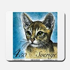 1994 Sweden Abyssinian Cat Postage Stamp Mousepad