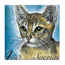 1994 Sweden Abyssinian Cat Postage Stamp Tile Coas