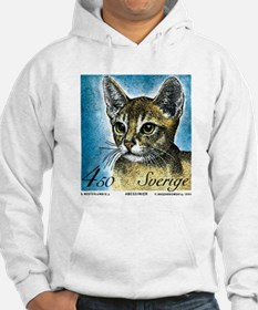 1994 Sweden Abyssinian Cat Postage Stamp Hoodie