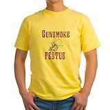 Gunsmoketv Mens Classic Yellow T-Shirts