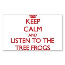 Keep calm and listen to the Tree Frogs Decal