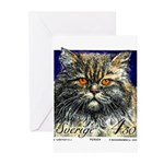 1994 Sweden Persian Cat Postage Stamp Greeting Car