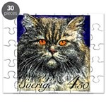 1994 Sweden Persian Cat Postage Stamp Puzzle