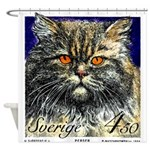 1994 Sweden Persian Cat Postage Stamp Shower Curta