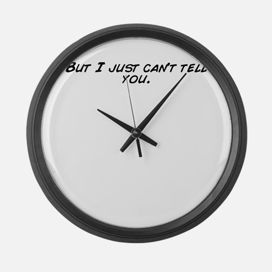 Funny I%27m just not that into you Large Wall Clock
