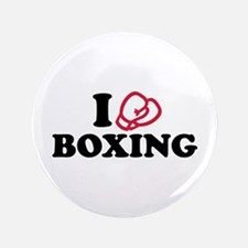 """I love boxing gloves 3.5"""" Button"""