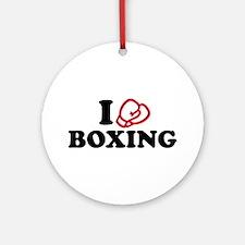 I love boxing gloves Ornament (Round)