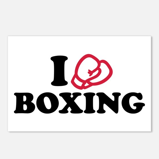 I love boxing gloves Postcards (Package of 8)