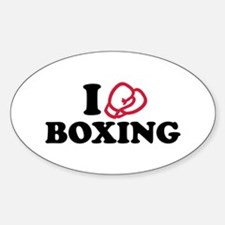 I love boxing gloves Decal