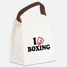 I love boxing gloves Canvas Lunch Bag