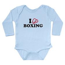 I love boxing gloves Long Sleeve Infant Bodysuit