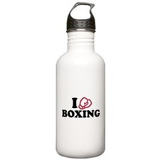 I love boxing gloves Sports Water Bottle