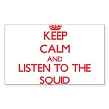 Keep calm and listen to the Squid Decal