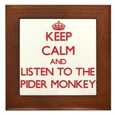 Keep calm and listen to the Spider Monkeys Framed