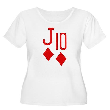 Jack Ten Poker Women's Plus Size Scoop Neck T-Shir