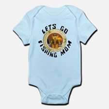 lets go fishing mom Infant Bodysuit