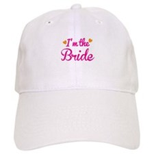 Im the Bride! with cute love hearts Baseball Cap