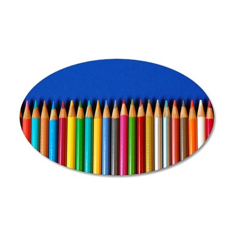 colorful pencil crayons decal wall sticker by perldesign1 colourful balloons wall sticker wall art amp wallpaper