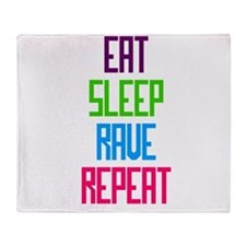 Eat Sleep Rave Repeat Throw Blanket