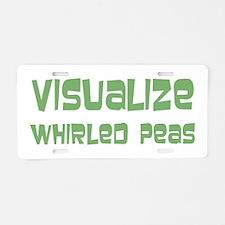 Whirled Peas Aluminum License Plate