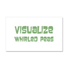 Whirled Peas Car Magnet 20 x 12
