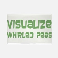 Whirled Peas Rectangle Magnet