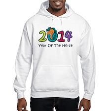 Cute Horse 2014 Year Hoodie