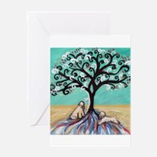 Wheaten Terriers Tree of Life Greeting Cards