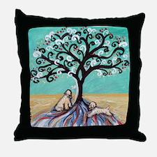 Wheaten Terriers Tree of Life Throw Pillow