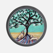 Wheaten Terriers Tree of Life Wall Clock